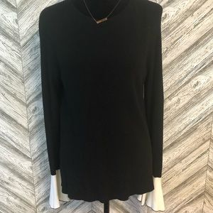PIXLEY Sweater, Black w/ Ivory, size Large